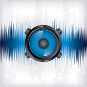 Sound wave design — Stock Vector