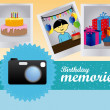 Birthday memories  — Stock Vector