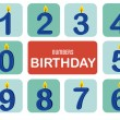 Numbers birthday  — Stock Vector