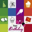 Happy birthday — Vector de stock #26697287