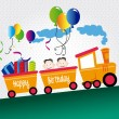 Train party — Stock Vector