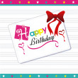 Happy birthday postcard — Stock Vector
