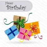 Happy birthday gifts — Stock Vector #26697567