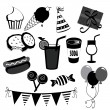 Stock Vector: Party icons