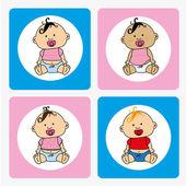 Babys — Stock Vector