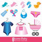 Pictogrammen baby — Stockvector