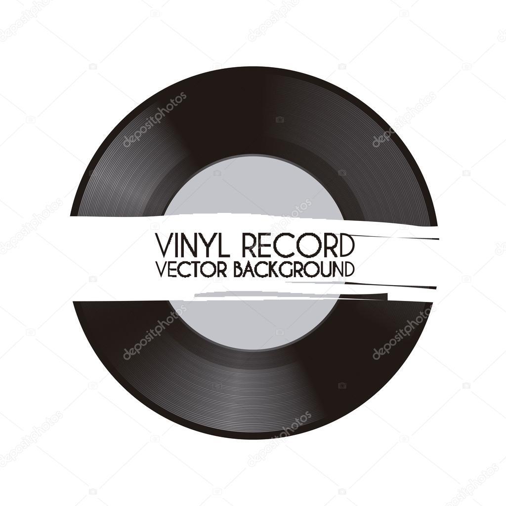 黑胶唱片 — 图库矢量图像08