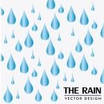 The rain design — Stock Vector