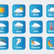 Icons weather — Stok Vektör
