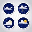 Stock Vector: Weather coins