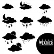 Icons weather — Stock Vector