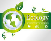 Ecology frame — Stock Vector