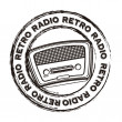 Radio retro — Stock Vector