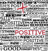 Positive design — Stock Vector