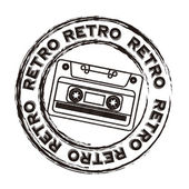 Cassette retro — Stock Vector