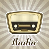 Radio retro — Stock Vector