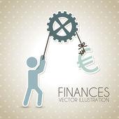 Finance design — Stock Vector