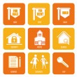 Real estate icons — Stock Vector #26882571