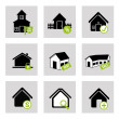 Stock Vector: House bussines icons