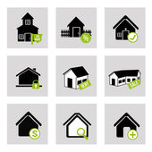 House bussines icons — Stock Vector