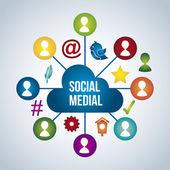 Social media — Vettoriale Stock