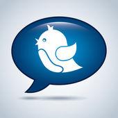 Blue bird design — Stock Vector