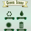 Green icons — Stock Vector #26937235