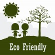 Stock Vector: Eco friendly