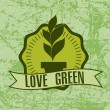 Love green — Stock Vector
