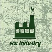 Eco industri — Stockvektor
