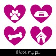 I love my dog — Stock Vector