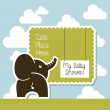mi baby shower — Vector de stock