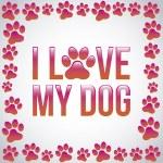 I love my dog — Stock Vector #27059539