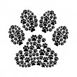 Stock Vector: Dog footprint