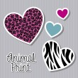 Stock Vector: Animal print