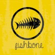 Fishbone — Stock Vector
