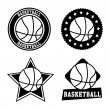 Stock Vector: Basketball seals
