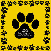 Dog footprint — Vector de stock