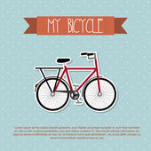 My bicycle — Vector de stock