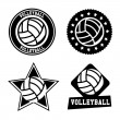 Stock Vector: Volleyball seals