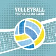 Volleyball design — Stock Vector