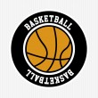 Stock Vector: Basketball label