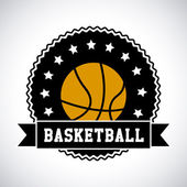 Basketball label — Vettoriale Stock