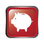 Savings button — Stock Vector
