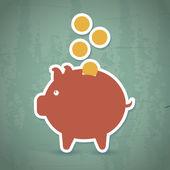 Besparingen pictogram — Stockvector