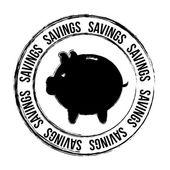 Savings seal — Stock Vector
