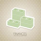 Progettazione di finanze — Vettoriale Stock