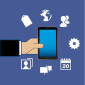Smartphone — Vettoriale Stock