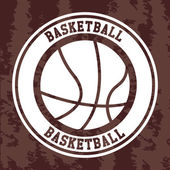 Basketball label — Stockvector