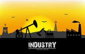 Industry label — Stock Vector